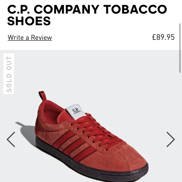 ADIDAS X C P COMPANY TOBACCO  Deadstock item sold