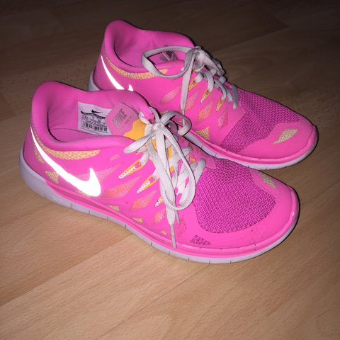 new arrival bc8ec adc92   jessicamorrisonx. last year. Fraserburgh, United Kingdom. bright pink  orange and white nike trainers great condition size 5
