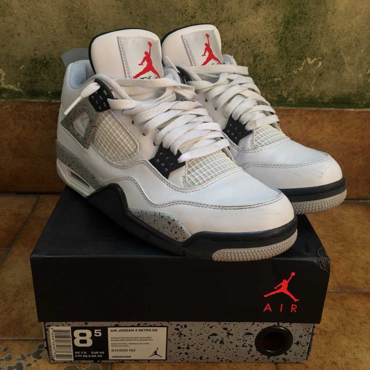 5bd705bd08d755 Nike Air Jordan 4 White Cement