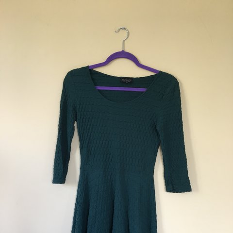 4812304c Swap listing ✨ Topshop Bottle Green Skater Dress Size 8 Love - Depop