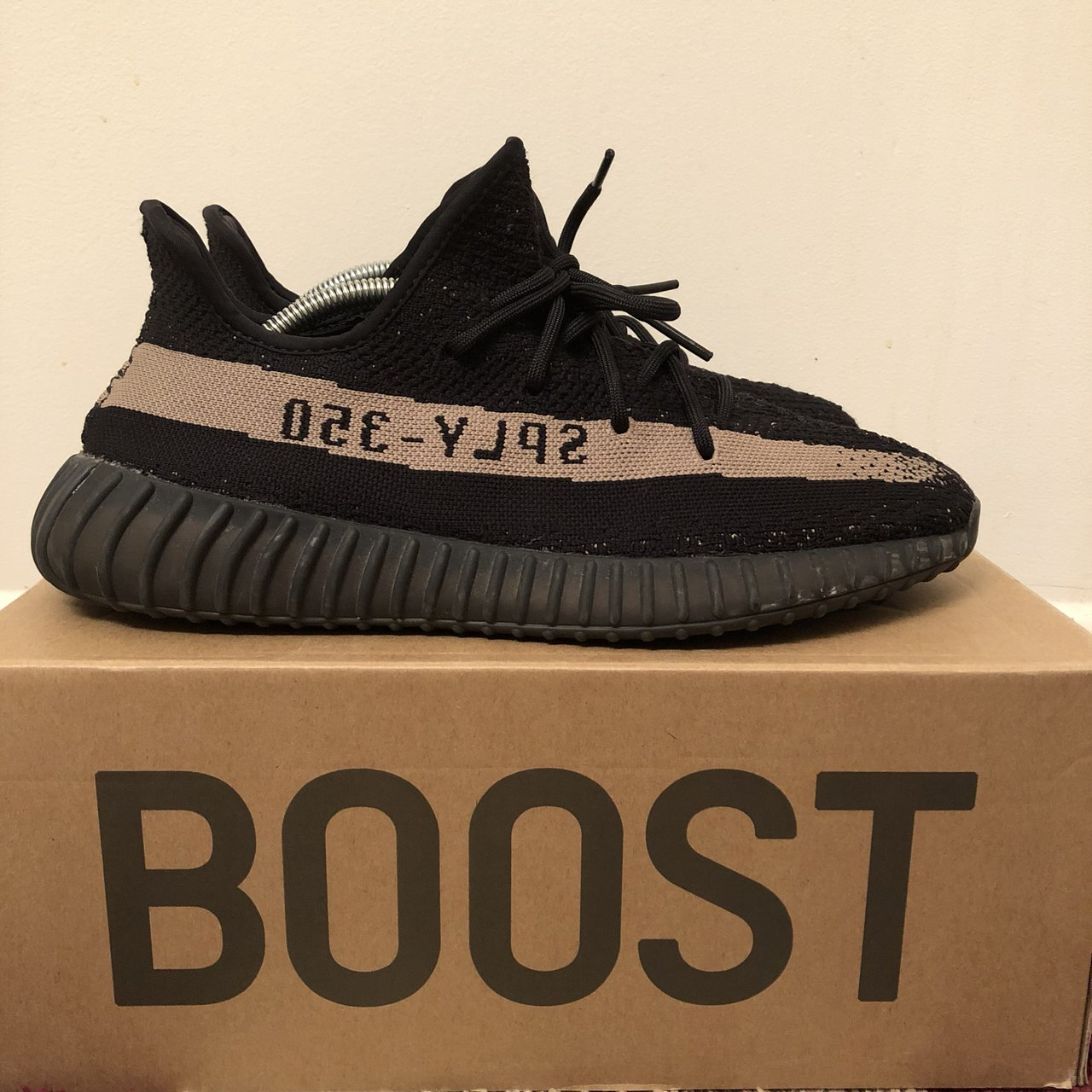 c99f401998a Adidas Yeezy Boost 350 V2 Olive Black Green BY9611 Size 10.5 - Depop