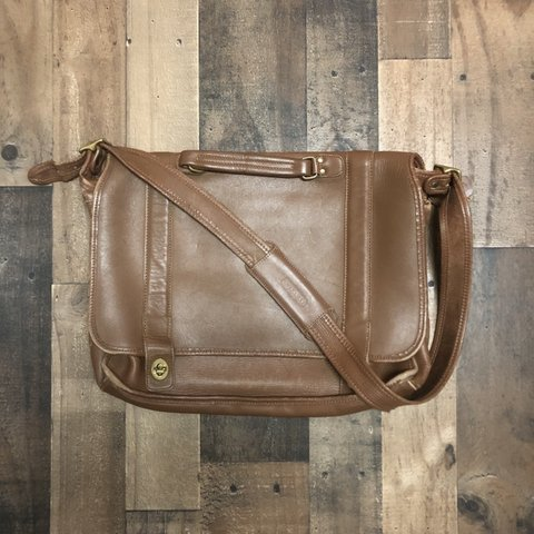 7adae1151 @checkmate300. 5 months ago. United States. Coach Brown Leather Crossbody  Messenger Bag Mens