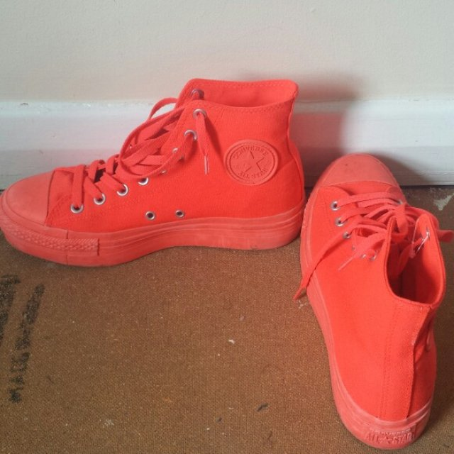 neon orange converse Sale 713fc990f