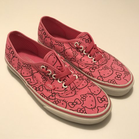 e16ab4746e9 Vans Hello Kitty pink limited edition shoes size 8 women s
