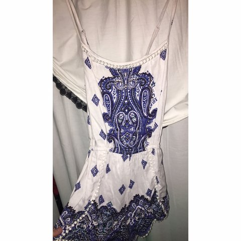 ad6269d7099f Royal blue romper from Charlotte Russe Size XS