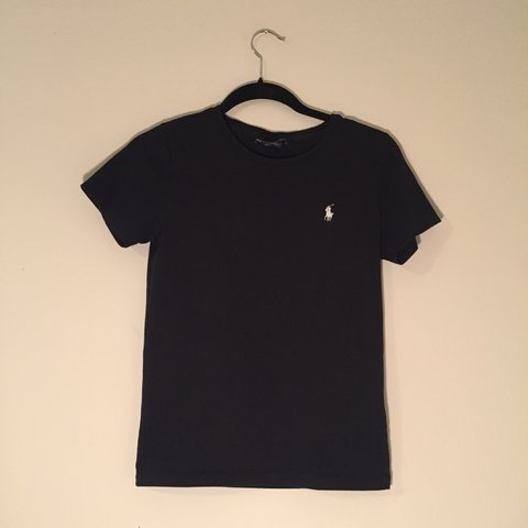 eeab5297cf25 @october4always. last month. Wilmington, United States. Simple black Polo  Ralph Lauren tee / t shirt with decal. Fitted women's medium. Great  condition
