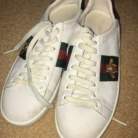 9b95fef00d9 Original Gucci Ace Bee trainers 🐝 MESSAGE ME FOR OFFERS - Depop