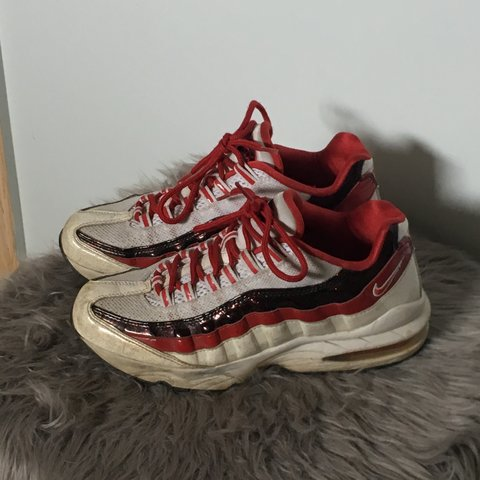 free shipping a915a fc00a  orimacdonald. 10 months ago. Canada. Speckled red, black and eggshell  white Air Max ...