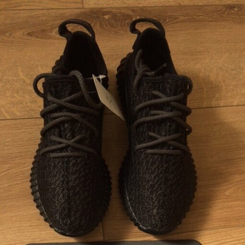 6fc59d28ea7d7 YEEZY 350 BOOST PIRATE BLACK - UK7 - £500 - COMES WITH FROM - Depop