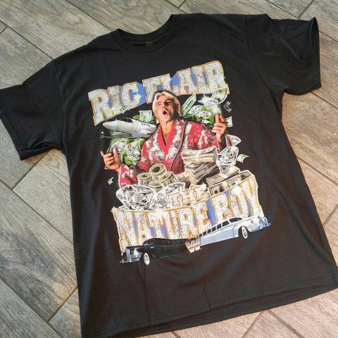 bf234d5bc5a WWE RIC FLAIR T-Shirt. Looks like the cd cover for the old a - Depop