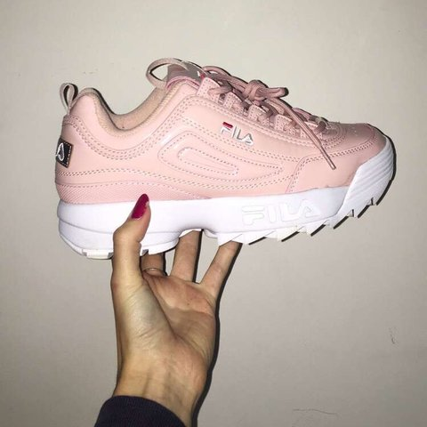 c16d98055534 ABSOLUTELY STUNNING fila disruptor 2 Baby pink with white - Depop