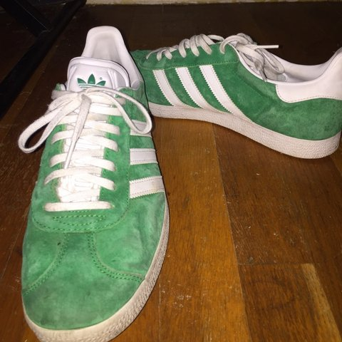 release date: e6cd4 3a55e suckabwoy. 6 months ago. Fresno, United States. Lightly worn green suede  adidas gazelle shoes
