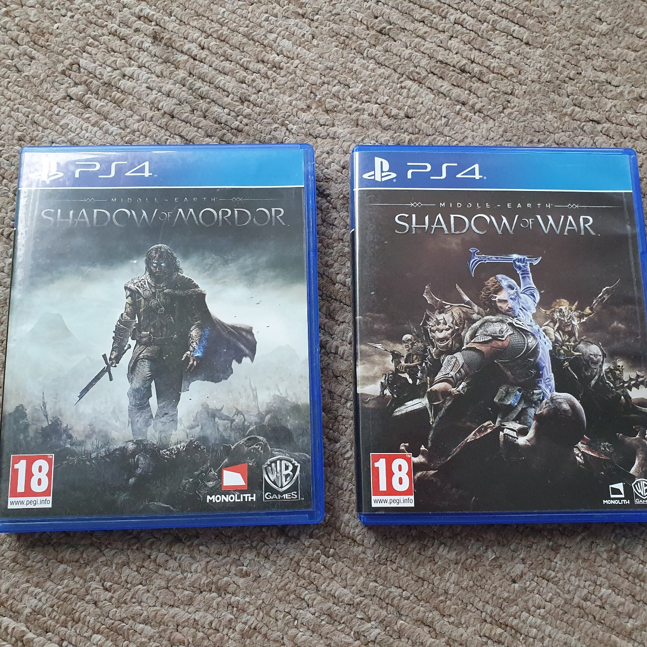 PS4 games Shadow of Mordor and Shadow of War bundle