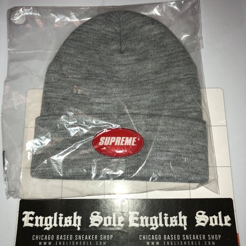 9dc7c0f23ac6f Supreme - Rubber Patch Beanie SS18 100% Authentic and in - Depop
