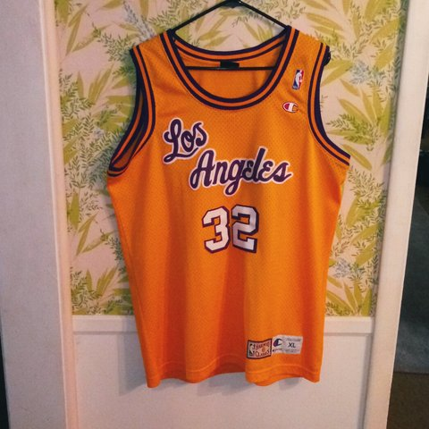 50fef7d916d @dmonson94. 5 days ago. Omaha, Nebraska, US. Vintage Champion Hardwood  Classics Los Angeles Lakers Magic Johnson Sewn Jersey XL 90s NBA NWOT