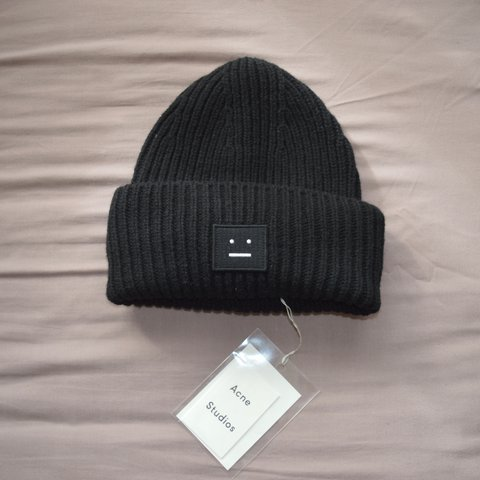 f7fc5635cd399 Acne Studios pansey wool beanie 🔸 black and white 🔸 one 🔸 - Depop