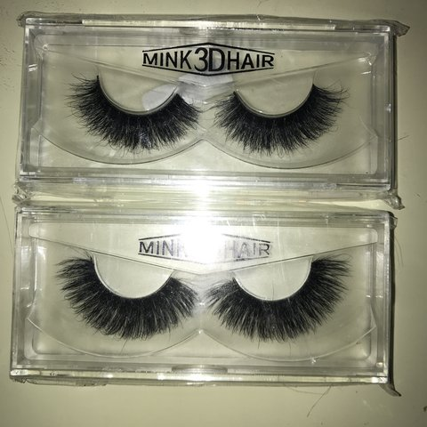 008550d31d1 2 pairs of mink 3D hair lashes brand new •£1.50 for for is - Depop