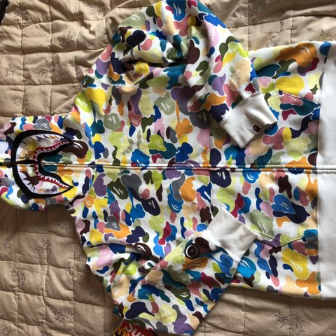 0a488d3998c FREE SHIPPING ON THIS Multicolored bape shark hoodie. No no - Depop