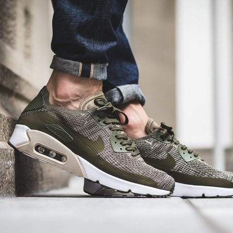 9078e3fc46a0 Nike Air Max 90 Ultra Flyknit. (Olive Green) Brand new with - Depop