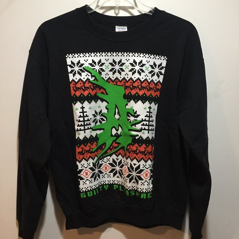 1e31b2cb @crustycole. 6 months ago. Joliet, United States. Attila Guilty Pleasure ugly  Christmas sweater. Size: M