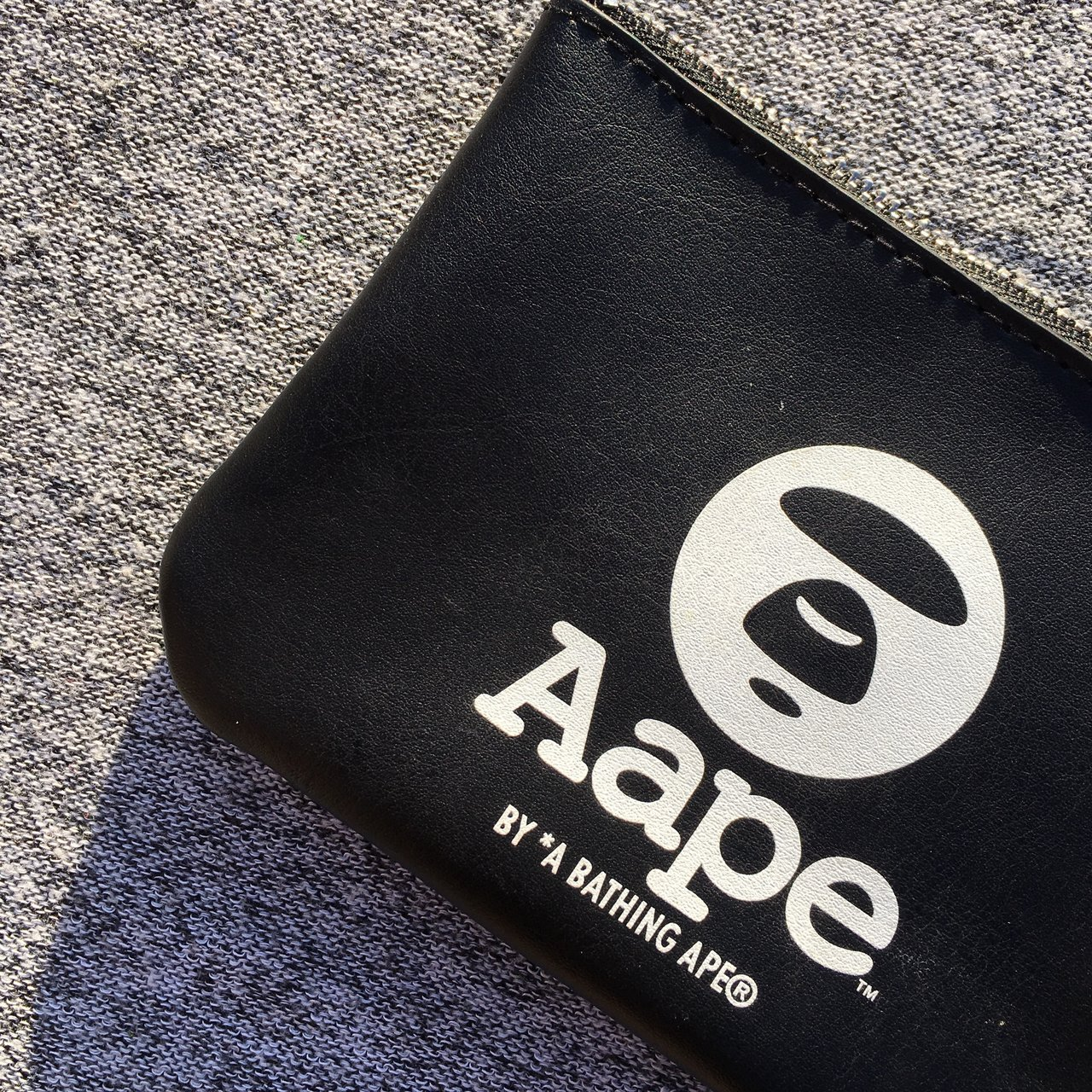 c23fe5c0f99 Aape by Bape small coin purse • Colour way  Black • Size  13 - Depop