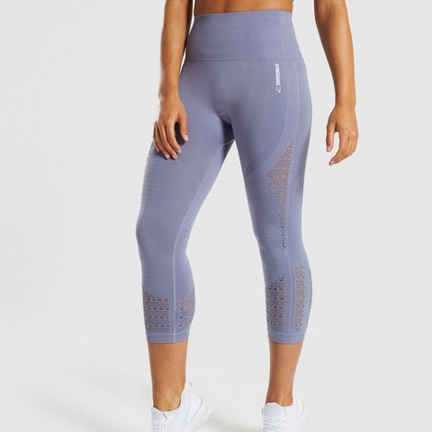 87bb15ef82a79 @samk0993. 19 days ago. Stratford-upon-Avon, GB. Gymshark Energy+ Seamless  Steel Blue 3/4 Cropped Leggings Bought and worn only ...