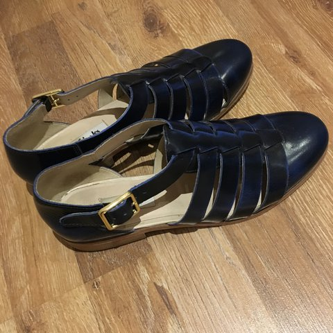 e938aa40f2917d Clarks sandals Size UK 5   Eur 38 Navy Leather Worn only - Depop