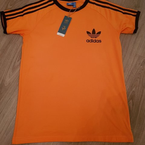 adidas california t shirt orange