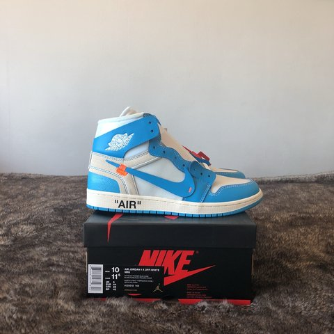 97ba387c4e5 @aaran97. 11 months ago. Bridgnorth, United Kingdom. Nike x Off-White Air  Jordan 1 NRG 'UNC' | size UK9 or US10 ...