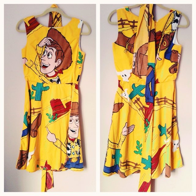 402c5bc78 Woody from toy story dress handmade and lined from genuine - Depop