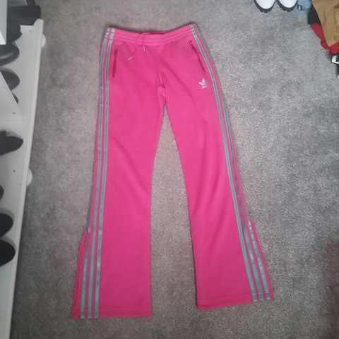 8a433e02753 @kezza30. last year. Dereham, Norfolk, United Kingdom. A pair of bright  pink Adidas tracksuit bottoms ...