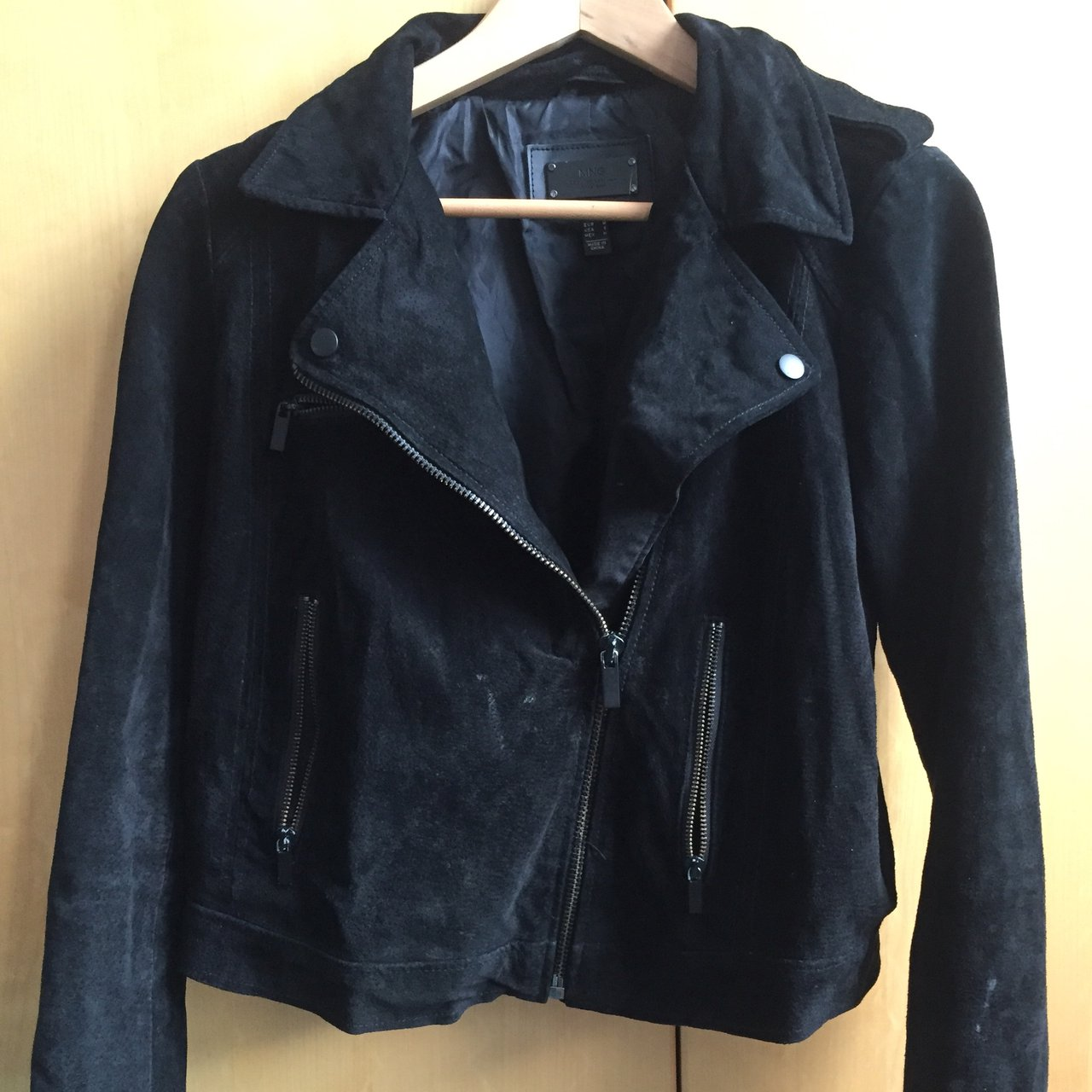 Mango Genuine Leather Women S Biker Jacket Some Minor Fit Depop