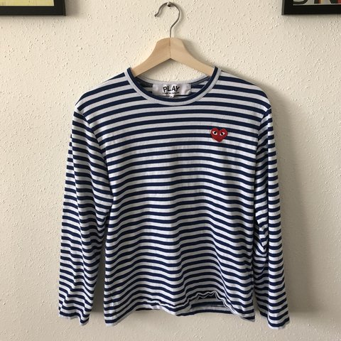 5587dfc44584 @01phoenix. last year. Houston, United States. Comme Des Garcons Play  Striped Long Sleeve T-Shirt