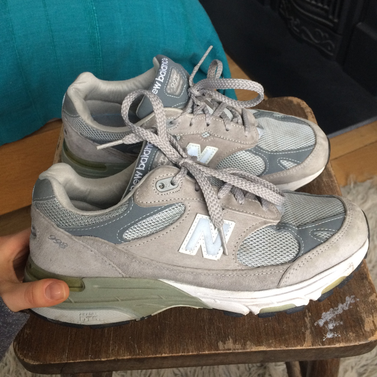 hot sale online ee817 514e1 Rare vintage New Balance 993, grey suede !! These... - Depop