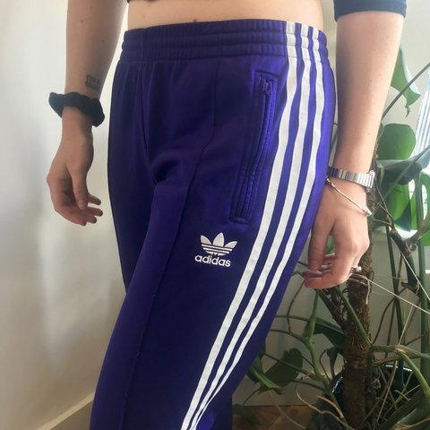 70e6e17c @clothbristol. 8 months ago. Bristol, United Kingdom. Royal purple adidas  originals women's tracksuit bottoms ...
