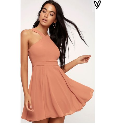 c49a8cfcc91 lulus forevermore skater dress! only worn once for the color - Depop