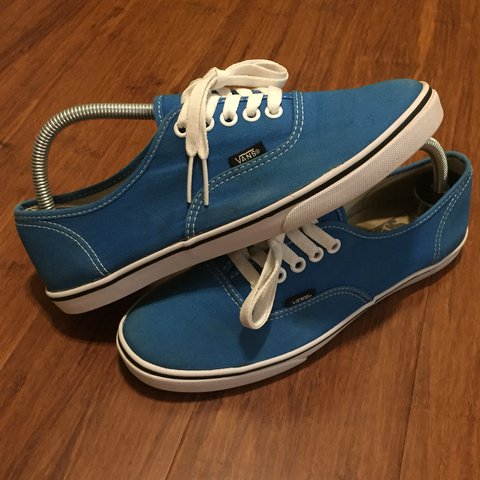 ba510bd65db3cf Vans Authentic Classic Slims. Blue Canvas. Used Kicks - Good - Depop
