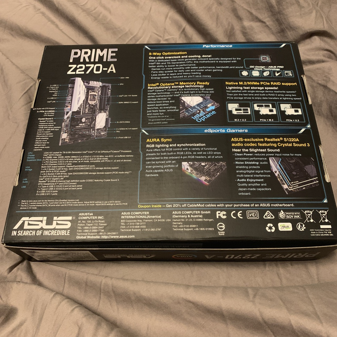 asus prime Z270-A motherboard for sale, brand new in    - Depop