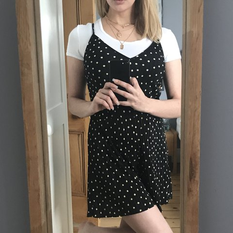 4016633fdeb V v. cute polka dot strappy playsuit from Topshop - only a - Depop
