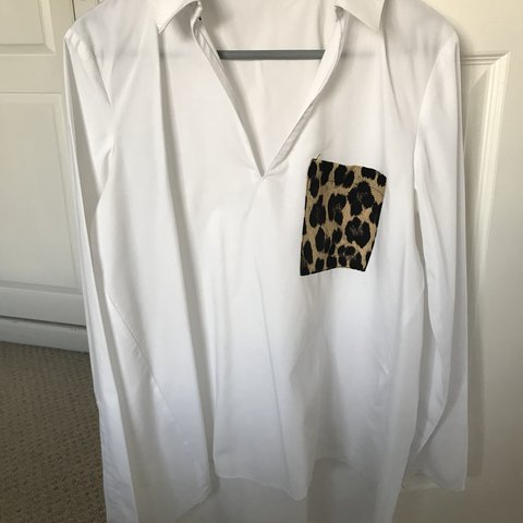 58251252142f2 ZARA leopard print pocket shirt. Perfect condition. - Depop