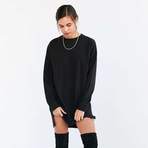 3a13e4eb2788 BDG Maeby oversized black long sleeve T-shirt dress. From - - Depop
