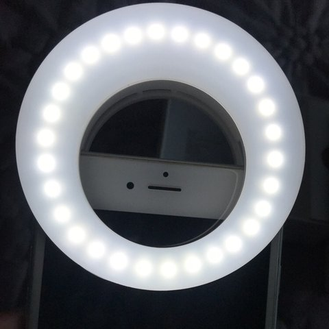 0312d4d1060 @nissajanae. last year. Powder Springs, United States. Selfie Ring Light  that clips onto phone. Three brightness settings for the perfect selfie  lighting ...