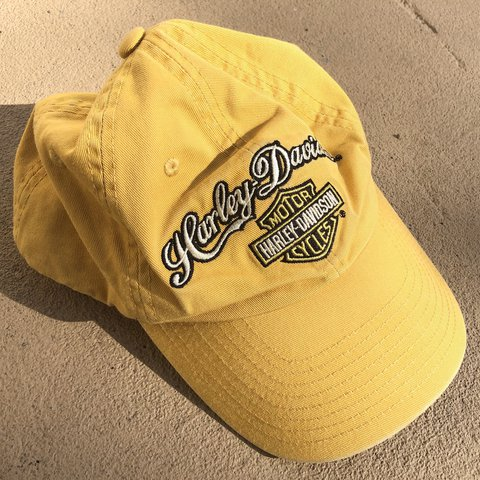 19287c5cb05 Harley Davidson hat. In the black yellow and white color 🔥 - Depop