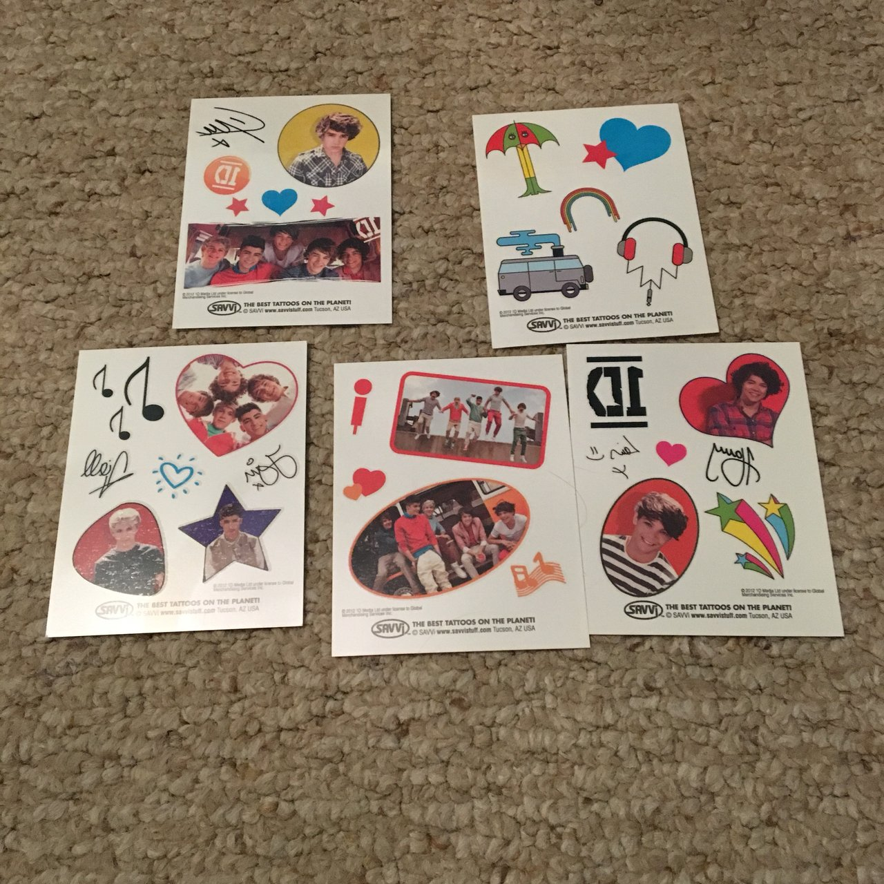 One Direction Temporary Tattoos. Never opened, comes with 5 - Depop