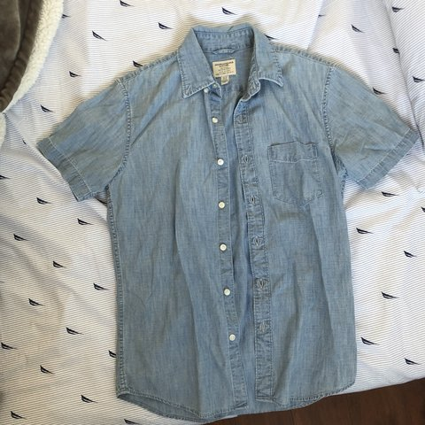 7c4f3b419d AE   American eagle light wash denim shirt. Fits a bit Size - Depop