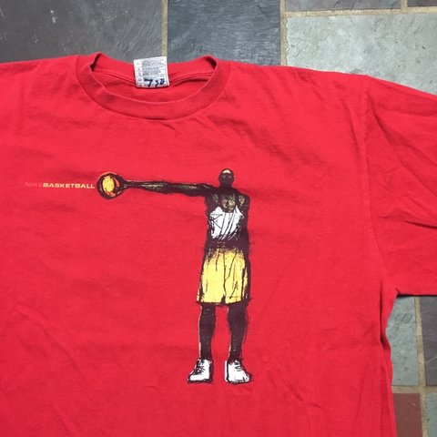 3b0f0554 @shrimp_thrifts. 3 months ago. United States. Vintage late 90s Nike  Basketball Graphic Tee Shirt ...
