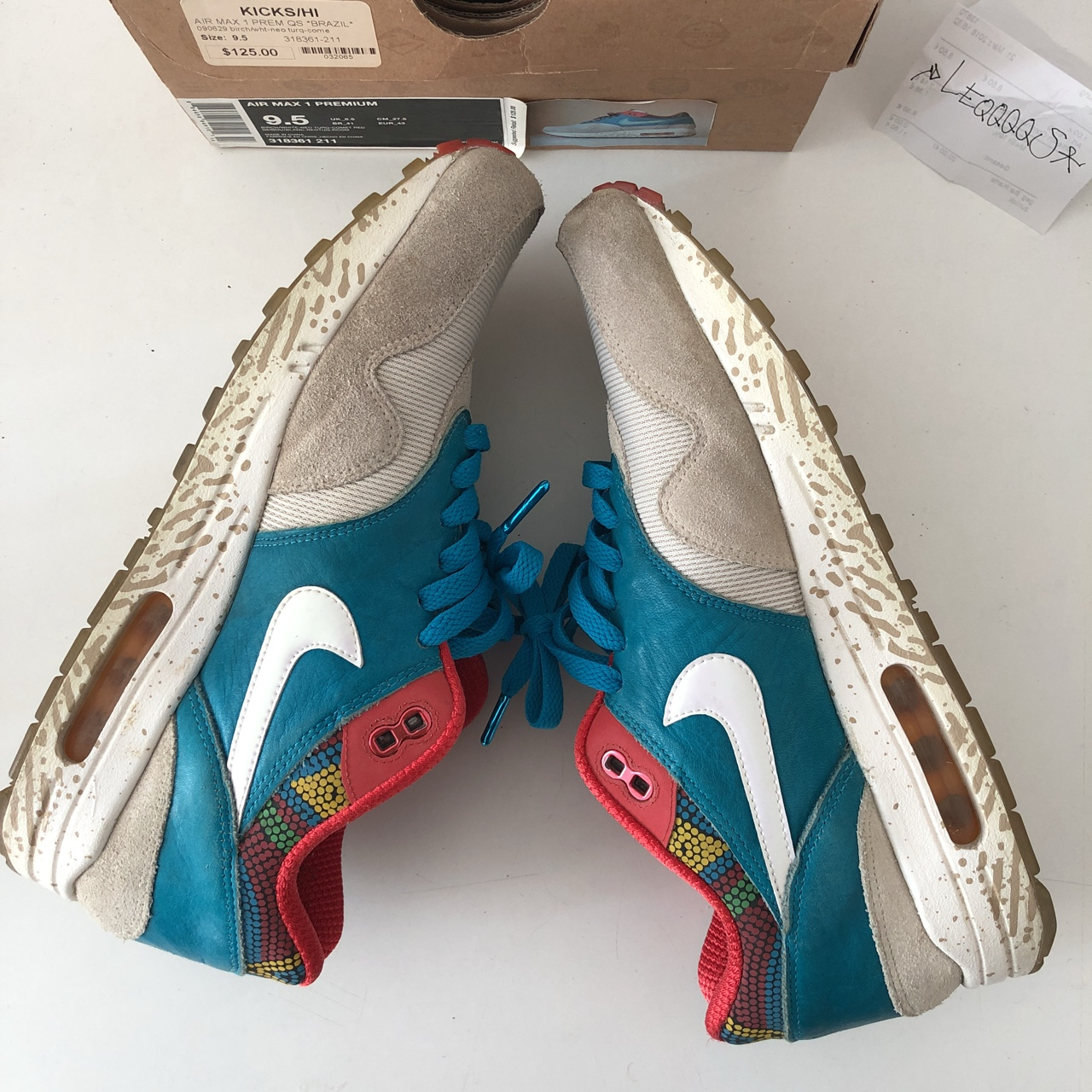 Nike Air Max 1 Lanceiro Brazil US 9.5 Condition Depop