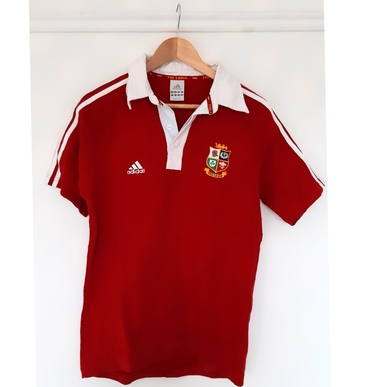 size 40 fbb53 a47db Adidas rugby shirt, British and Irish Lions. Made by... - Depop