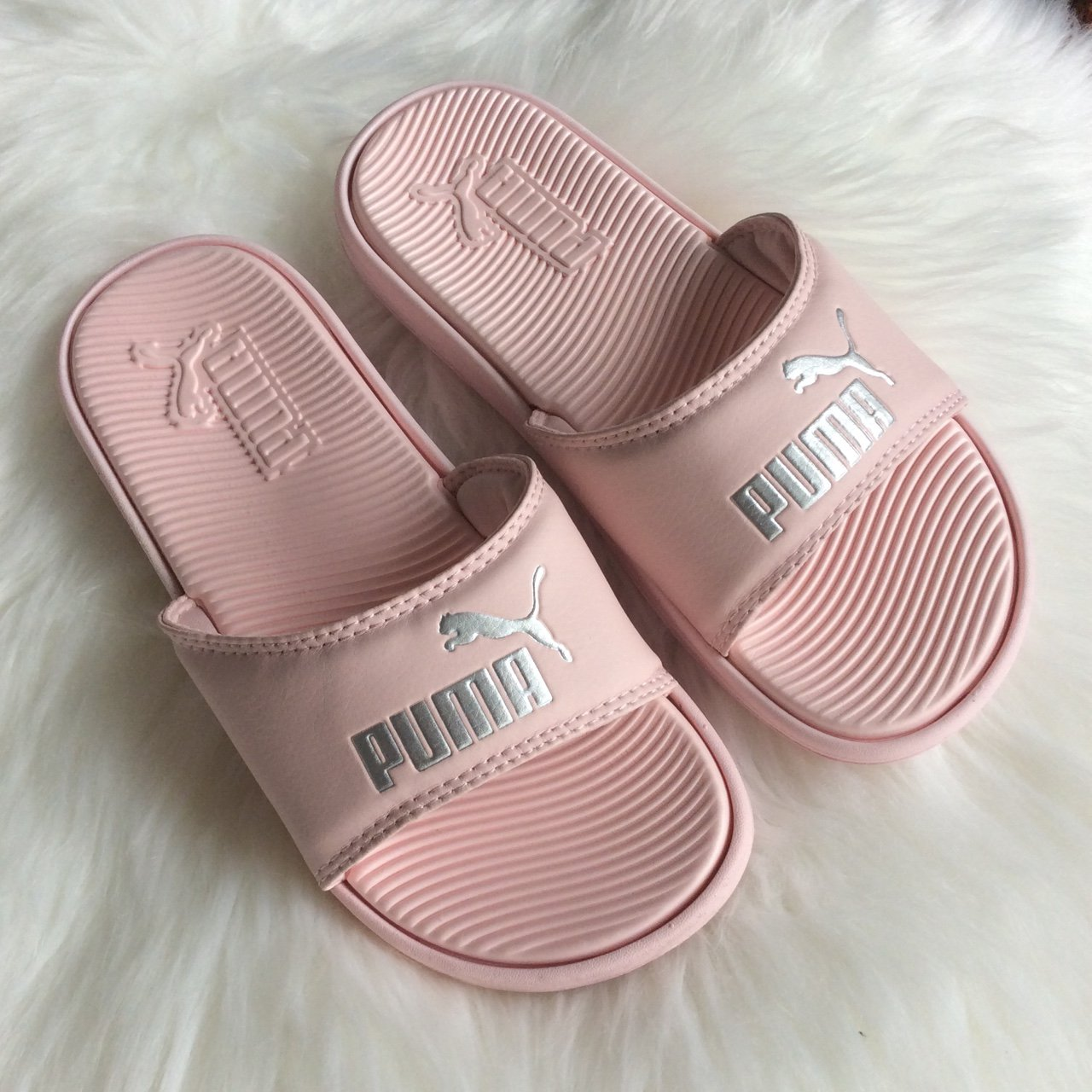 Authentic New Pink Puma Slides Available in Sizes  Women s - Depop 77ee95e81f