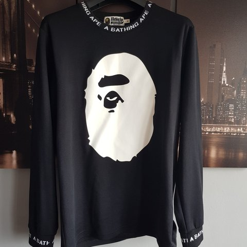 96acdebd2 RESERVED** A Bathing Ape BIG APE Long Sleeve Tee UK S - is - Depop